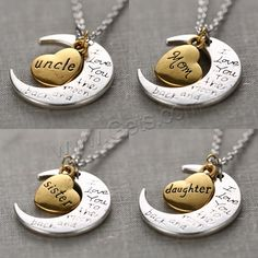 Fashion Necklace,Moon and Star, different designs for choice & with letter pattern .