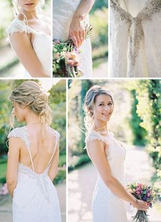 Real Bride, Rebecca, wearing our backless Brandy wedding gown by Maggie Sottero. Garden Wedding Dresses, Wedding Dress Trends, Wedding Dress Styles, Bridal Dresses, Wedding Gowns, Tailored Wedding Dress, Classic Wedding Dress, Boho Wedding, Dream Wedding