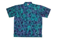 Wine Design - 100% cotton button up Hawaiian style shirts represented by Human Arts Gallery in Ojai, CA.