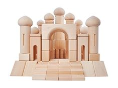 Natural Wooden Blocks for Kids - Wood Castle Building Blocks for Toddlers - Aladdin's Palace 97 Pieces Wooden Block Set for Girls and Boys Ages Wooden Blocks For Kids, Blocks For Toddlers, Wooden Toys For Toddlers, Kids Blocks, Kids Wood, Wood Blocks, Baby Building Blocks, Building Toys, Wooden Buildings