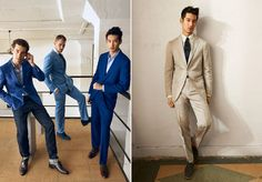 These well fitting suits represent a walk into the new age of Sharp Dressed, where men actually look sharp!