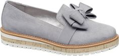 Add a little spring to your step and get ready for the new season with this pair of Graceland ladies' bow detail slip on shoes in classic grey, with 3cm heel