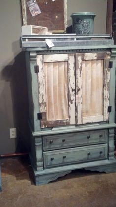 Broken Dresser Becomes an Armoire