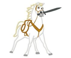 Max Horse Applique Design Instant Download