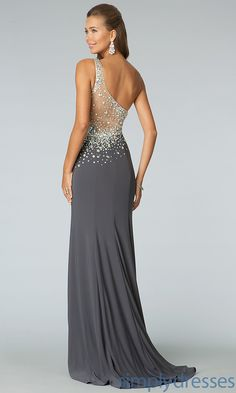 Full Length One Shoulder JVN by Jovani Prom Dress - SimplyDresses