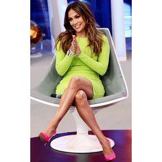 Jennifer Lopez Wows in Eye-Popping Neon Looks ❤ liked on Polyvore featuring jennifer lopez