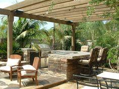 Backyard Landscaping Ideas - Concrete Pavers #landscaping