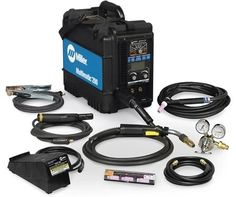 Multiprocess welders vary by power source, applications, duty cycle and other considerations. Take a look at the features for Miller Electric Multiprocess Welder. Types Of Welding, Welding Tips, Welding Projects, Diy Projects, Portable Welding Machine, Portable Welder, Plasma Torch, Tig Welder, Welding Shop