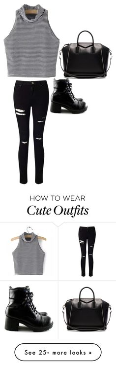 """cute black and white outfit"" by emily25921 on Polyvore featuring Miss Selfridge and Givenchy"