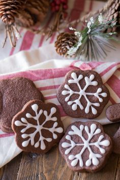 Chocolate Cut-Out Cookies - from Lovely Little Kitchen YUM Christmas Sprinkles, Christmas Sugar Cookies, Christmas Goodies, Christmas Treats, Christmas Baking, Gingerbread Cookies, Christmas Books, Christmas Music, Christmas Recipes