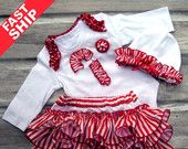 FAST SHIP Christmas Satin Ruffle Diaper Cover SeT Red Bows Ornament Applique Ruffle Bloomer SETS, Holiday Bloomers Baby Toddler Infant 5865.