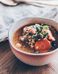 Zöldséges vöröslencse leves (videó) Chana Masala, Acai Bowl, Breakfast, Ethnic Recipes, Food, Acai Berry Bowl, Morning Coffee, Essen, Meals
