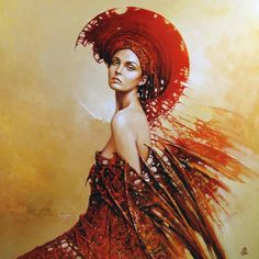Super Beautiful Paintings Of Women By Karol Bak