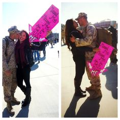 Missed me missed me now you gotta kiss me - so cute for homecoming sign Proud Navy Girlfriend, Military Girlfriend, Military Love, Army Love, Military Homecoming Signs, Homecoming Ideas, Welcome Home Signs For Military, Welcome Home Posters, Marine Love
