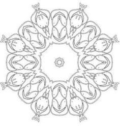 Lotus Mandala Coloring Page Printable