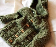 Blog: Learn-to-Knit with Katie: Update: Child's Hooded Cardigan Sweater
