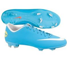 Nike soccer cleat, mine are like this but purple with pink laces