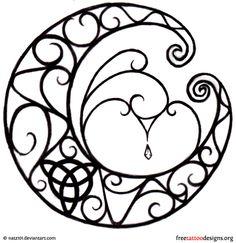 Gothic moon design