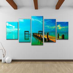 Overstock Wall Art bruce bain 'sun rise' 5-piece canvas wall art   overstock