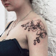 "1,222 Likes, 10 Comments - Olga Nekrasova (@fflowerporn) on Instagram: ""Black and grey orchids, thanks Ann!#tattoo #tattoos #ink #inked #tattooed #tattooist #design…"""