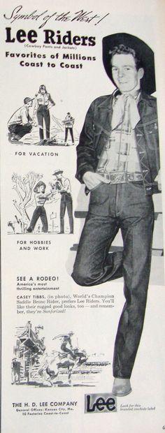 1953 Lee vintage ad