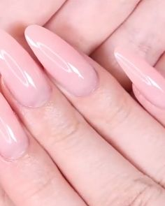 Now in no time from the sofa to perfect nails- A natural and healthy look The combination of acrylic and gel in natural pink color ensures healthy and strong nails. Polygel Nails, Coffin Nails, Acrylic Nails, Matte Nails, Nail Art Designs, Nail Designs Spring, Purple Nail, Winter Nails, Summer Nails