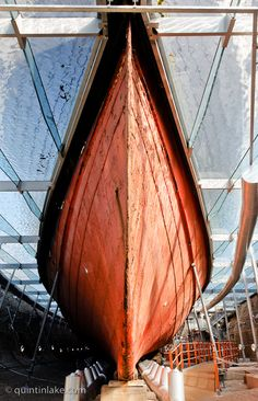 Brunel's SS Great Britain steamship floats on a glass sea Photographs © Quintin Lake