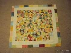 Alternating Nine Patch and Hourglass Blocks Baby Quilt