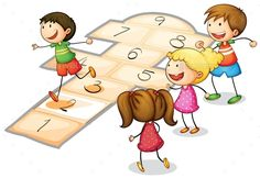 Buy Kids Playing by interactimages on GraphicRiver. illustration of a kids playing a number game Preschool Math, Kindergarten, Jump Animation, Art Classroom Management, Banana Art, Number Games, Childhood Days, Drawing Projects, Hopscotch