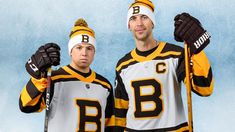 The first father, son duo to play in a Winter Classic! Hockey Logos, Boston Bruins, Ice Hockey, Nhl, Sons, Father, Classic, Winter, Third