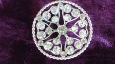 Antique Sterling Art Deco 30s Rhinestone Brooch by PalacePrincess, $85.00