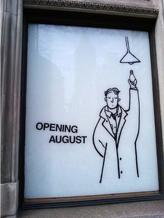 Vitrine enquanto a loja faz reforma! J.Crew Men's Shop display window