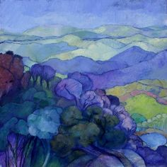 Looking towards Swaziland by Karin Daymond cool colors