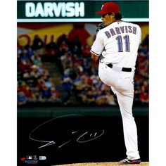 """Yu Darvish Texas Rangers Fanatics Authentic Autographed 16"""" x 20"""" Pitching in White with Leg Tucked Back Photograph - $499.99"""