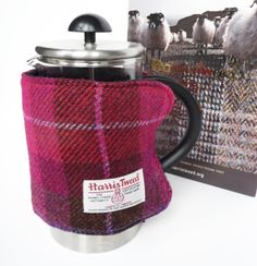 Cafetiere Cosy - Pink Plaid £20.00