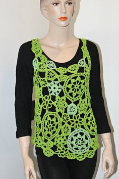 Freeform Crocheted Tunic by CasadeAngelaCrochet on Etsy, $105.00