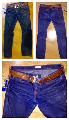The Unbranded Brand UB221 21oz heavyweight indigo selvedge denim. 10/12/15. Month 4. 0 Washes