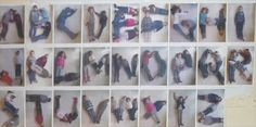 human alphabet... I think the kids would do great at this!