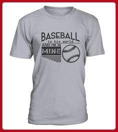 Baseball is his world and he is mine - Baseball shirts (*Partner-Link)
