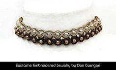 I love this - Soutache Embroidered Jewelry by Dori Csengeri - Audrey http://doricsengeri.com/