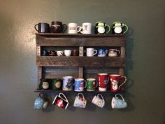 Pallet Coffee Cup Holder By Ytimecrafts On Etsy Crafts Pinterest Holders And