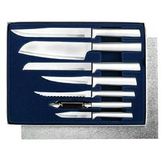 Handcrafted in USA Extra sharp high carbon stainless steel blade Comfortable handles Rada Cutlery Starter Set, 7 Pc Boxed Gift Set, Made in USA