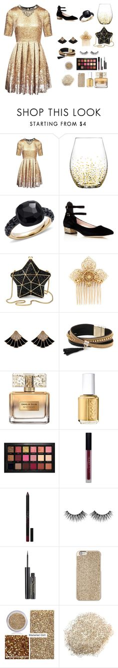 """""""2017"""" by mrsstylik1999 ❤ liked on Polyvore featuring Matthew Williamson, Pomellato, Kate Spade, Aspinal of London, Miriam Haskell, Simons, Givenchy, Essie, Huda Beauty and Elizabeth Arden"""