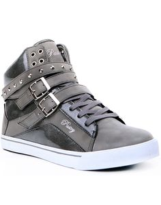 Footwear - Hi Top - Pop Tart Strap - Gray - Official Pastry Shoes by Vanessa and Angela Simmons. Check out new Pastry friends Jessica Jarrell and Cody Simpson!