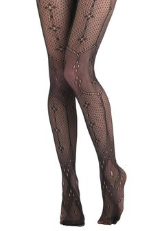These are some tights I think I could actually maybe bear to wear. Instant Antique Tights, #ModCloth