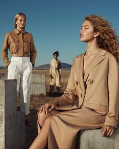 Models Aya Jones, Dorit Revelis, and Jean Campbell star in Massimo Dutti's Spring Summer 2018 womenswear advertisement captured by fashion photographer Josh Olins. Fashion Photography Poses, Fashion Photography Inspiration, Fashion Poses, Photoshoot Inspiration, Photography Women, Fashion Shoot, Editorial Photography, Editorial Fashion, Portrait Photography