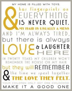 but there is always love & laughter here ♥