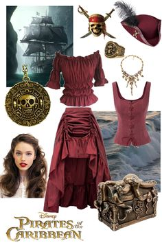 Halloween Costumes For Teens, Halloween Ideas, Bad Girl Outfits, Cool Outfits, Mode Pirate, Elizabeth Swann Costume, Renaissance Fair Costume, Long Skirts For Women, Fantasy Costumes