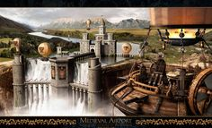 Wallpapers for Gt Steampunk City Wallpaper City Wallpaper, Scenery Wallpaper, Painting Wallpaper, Fantasy Castle, Medieval Fantasy, Fantasy City, Steampunk Wallpaper, Steampunk City, Steampunk Book