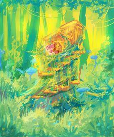 MLP Tree house by AquaGalaxy.deviantart.com on @DeviantArt